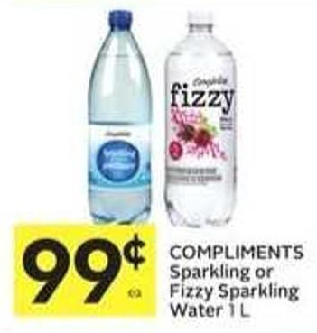 Compliments Sparkling or Fizzy Sparkling Water