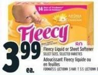 Fleecy Liquid Or Sheet Softener