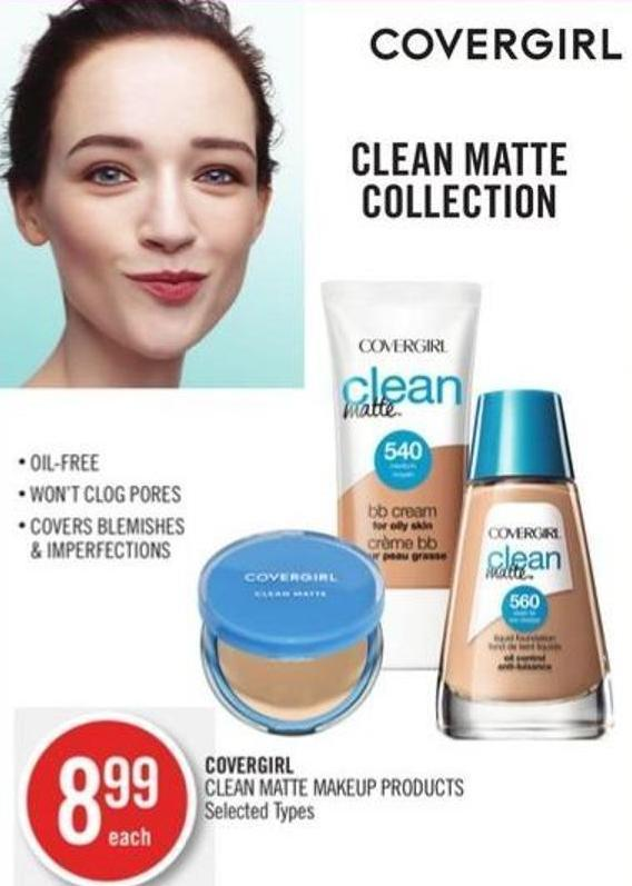 Covergirl Clean Matte Makeup Products