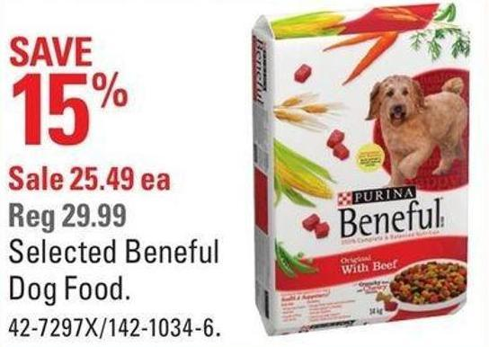 Selected Beneful Dog Food