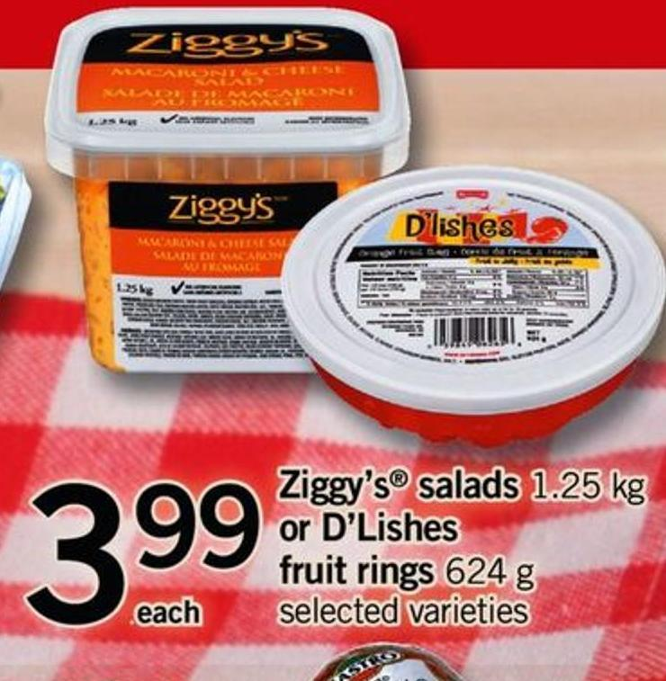 Ziggy's Salads 1.25 Kg Or D'lishes Fruit Rings 624 G