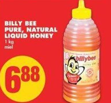 Billy Bee Pure - Natural Liquid Honey - 1 Kg