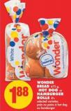 Wonder Bread - 675 g - Hot Dog or Hamburger Rolls - 8's