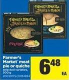 Farmer's Market Meat Pie Or Quiche - 500 g