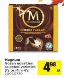 Magnum Frozen Novelties - 3's Or Mini 4's