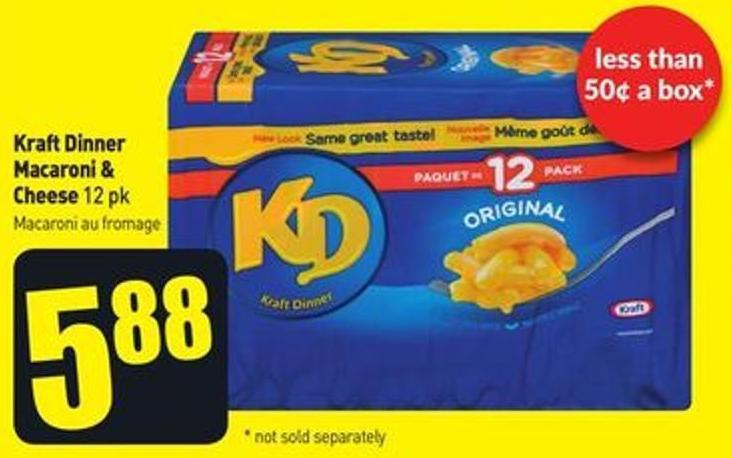 Kraft Dinner Macaroni & Cheese 12 Pk