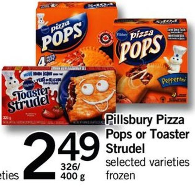 Pillsbury Pizza Pops Or Toaster Strudel - 326/400 G
