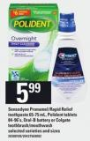 Sensodyne Pronamel/rapid Relief Toothpaste 65-75 Ml - Polident Tablets 84-96's - Oral-b Battery Or Colgate Toothbrush/mouthwash