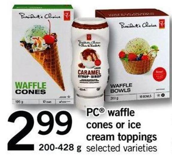 PC Waffle Cones Or Ice Cream Toppings - 200-428 G