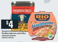 Hereford Corned Beef 340 G Or Rio Mare Light Tuna Salad 160 G