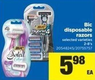 Bic Disposable Razors - 2-8's