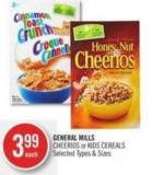 General Mills Cheerios or Kids Cereals