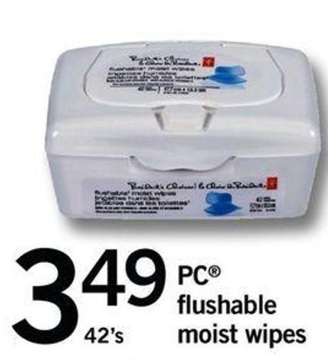 PC Flushable Moist Wipes