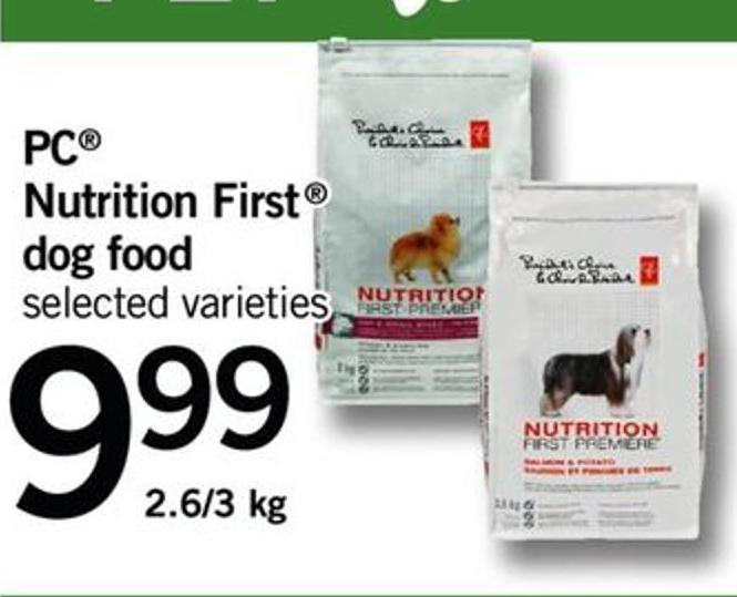 PC Nutrition First Dog Food - 2.6/3 Kg