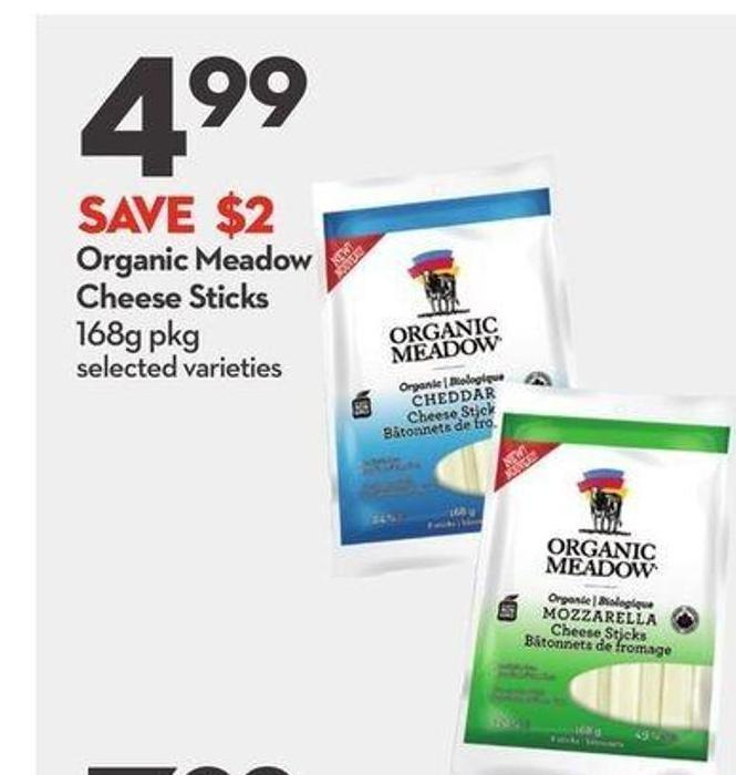 Organic Meadow Cheese Sticks