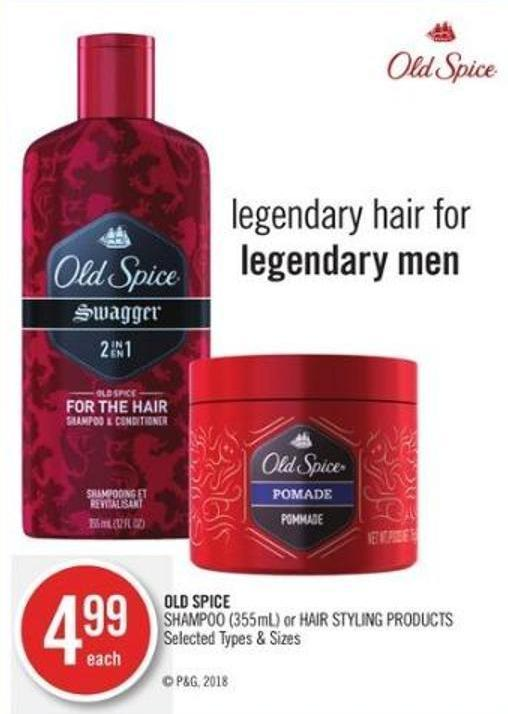 Old Spice Shampoo (355ml) or Hair Styling Products