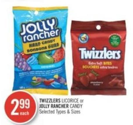 Twizzlers Licorice or Jolly Rancher Candy