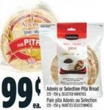 Adonis Or Selection Pita Bread 225 - 250 g