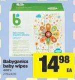 Babyganics Baby Wipes - 400's