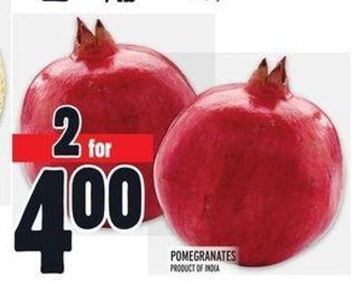 Pomegranates Product of India