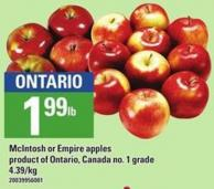 Mcintosh Or Empire Apples