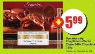 Sensations By Compliments Pecan Cluster Milk Chocolate 330 g
