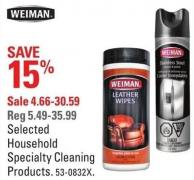 Weiman Selected Household Specialty Cleaning Products