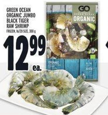 Green Ocean Organic Jumbo Black Tiger Raw Shrimp