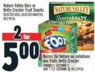 Nature Valley Bars Or Betty Crocker Fruit Snacks