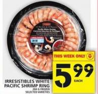 Irresistibles White Pacific Shrimp Ring