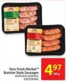 Your Fresh Market Butcher Style Sausages