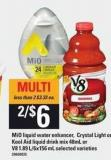 Mio Liquid Water Enhancer - Crystal Light Or Kool Aid Liquid Drink Mix - 48ml Or V8 - 1.89 L/6x156 mL