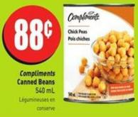 Compliments Canned Beans 540 mL