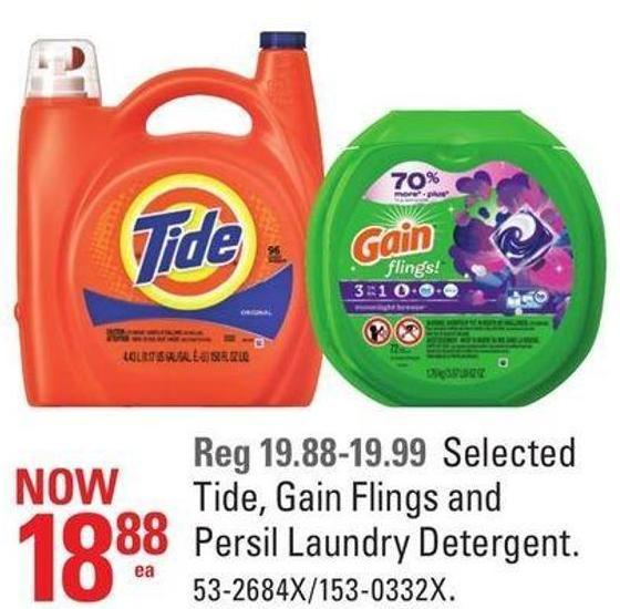 Tide - Gain Flings and Persil Laundry Detergent