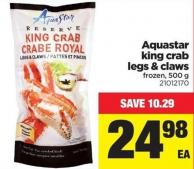 Aquastar King Crab Legs & Claws - 500 g