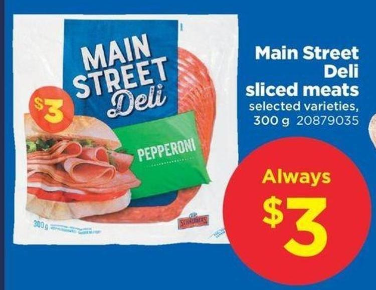 Main Street Deli Sliced Meats - 300 g