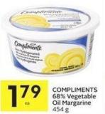 Compliments 68% Vegetable Oil Margarine 454 g