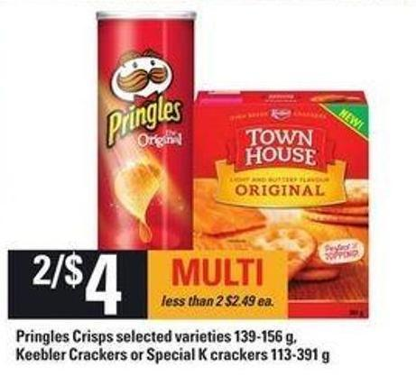 Pringles Crisps - 139-156 g - Keebler Crackers Or Special K Crackers - 113-391 g