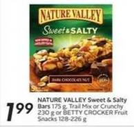 Nature Valley Sweet & Salty Bar 175 g - Trail Mix or Crunchy 230 g or Betty Crocker Fruit Snacks 128-226 g