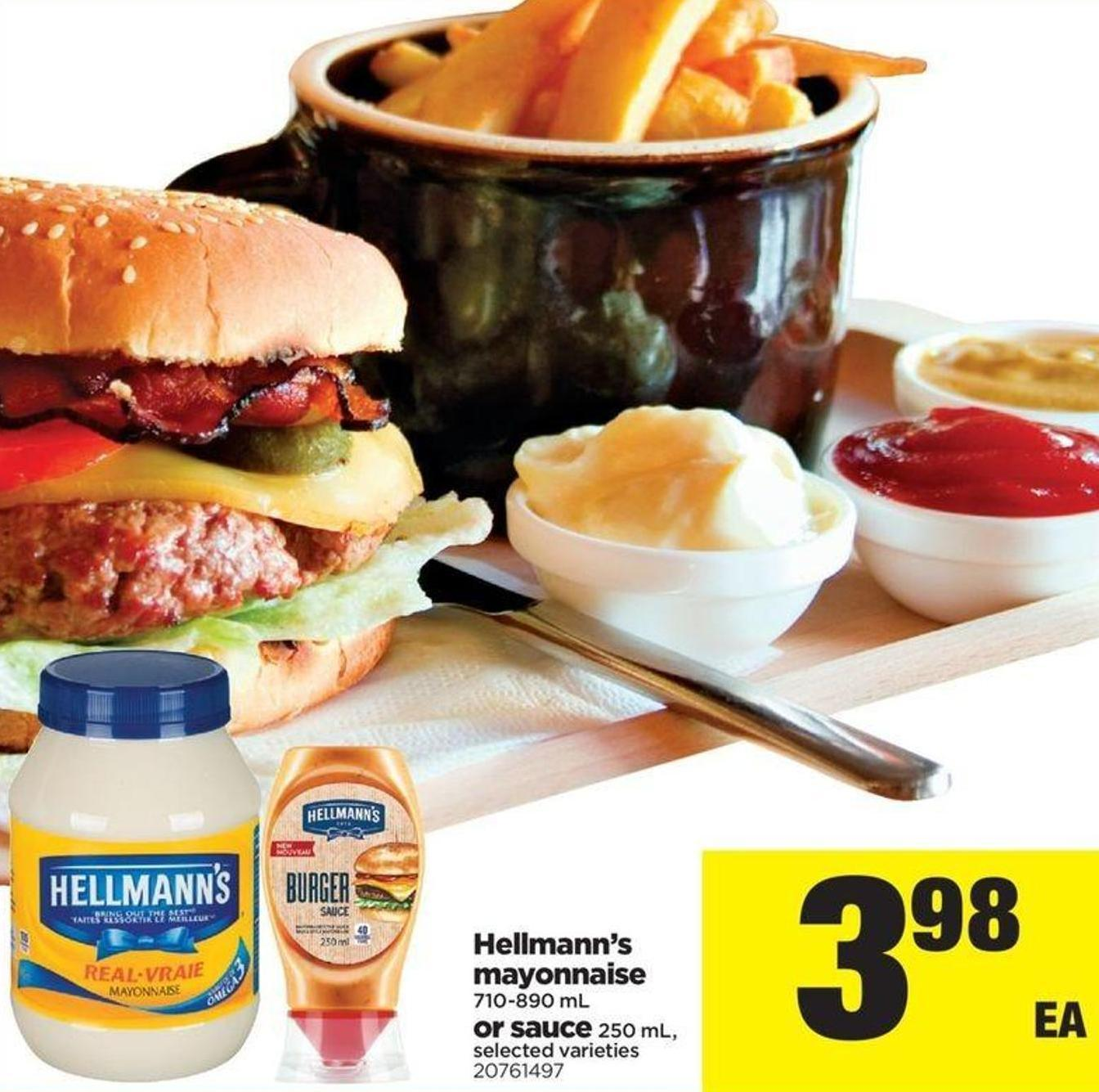 Hellmann's Mayonnaise 710-890 Ml Or Sauce 250 ml