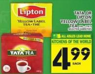 Tata Or Lipton Yellow Label Tea