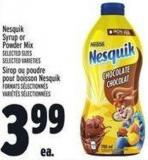 Nesquik Syrup Or Powder Mix