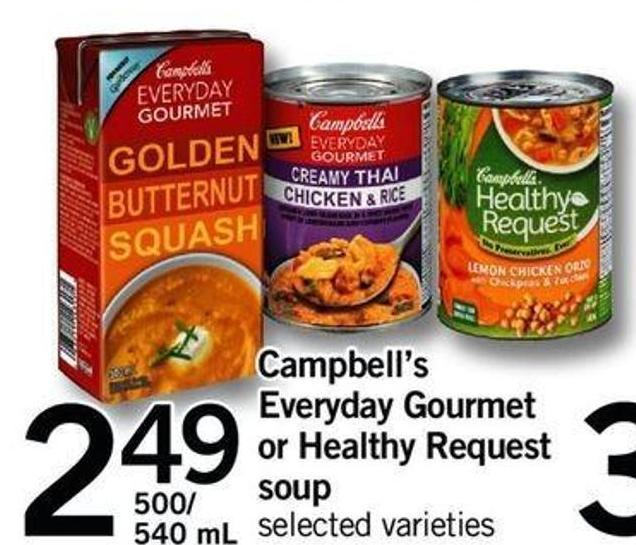 Campbell's Everyday Gourmet Or Healthy Request Soup - 500/540 Ml
