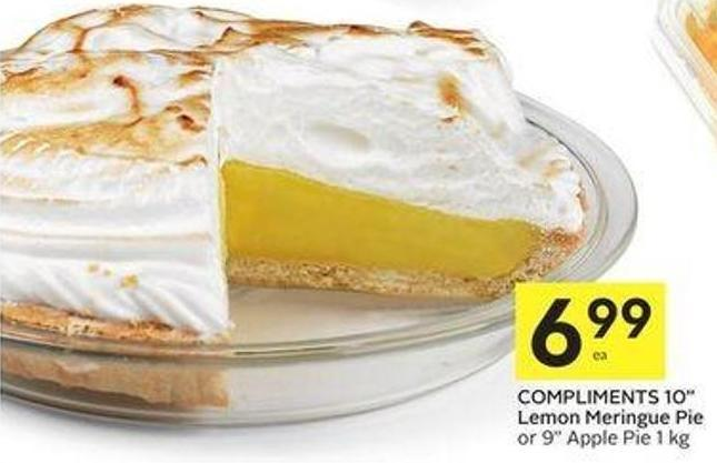 Compliments 10in Lemon Meringue Pie or 9in Apple Pie 1 Kg