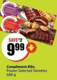 Compliments Ribs - Frozen Selected Varieties 680 g