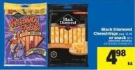 Black Diamond Cheestrings - Pkg 12-16 Or Snack - 10's