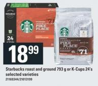 Starbucks Roast And Ground 793 G Or K-cups 24's