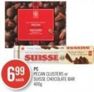 PC Pecan Clusters or Suisse Chocolate Bar 400 g