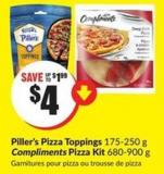 Piller's Pizza Toppings 175-250 g Compliments Pizza Kit 680-900 g