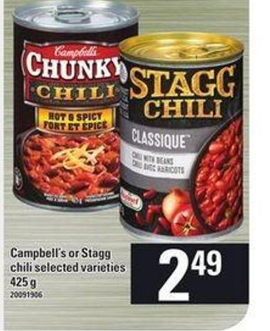 Campbell's Or Stagg Chili